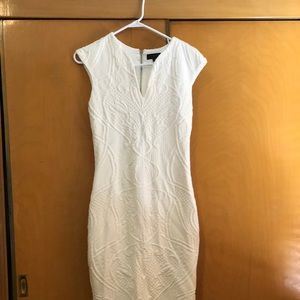 Fitted white dress